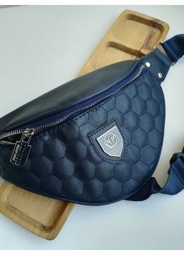 Тъмно синя чанта тип банан Philipp Plein
