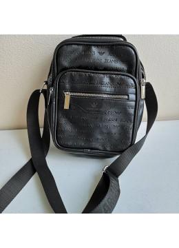Мъжка кожена чанта с лого - Armani