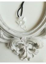 Талисман за кола ръчно изработено кристално ангелче бяло