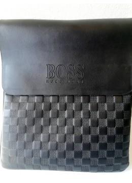 Мъжка чанта през рамо с релефен печат Boss