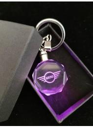 Кристален светещ ключодържател Mini Cooper