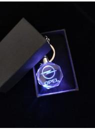 Светещ кристален ключодържател Opel