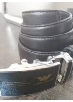 Мъжки колан телешки бокс с автоматична тока Giorgio Armani и подаръчна чанта