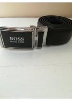 Луксозен мъжки колан естествена кожа и автоматична тока модел Boss