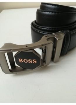 Мъжки кожен колан с автоматична двустранна въртяща се тока модел Boss