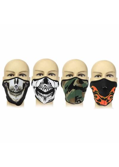 Вело маска с мотив на череп