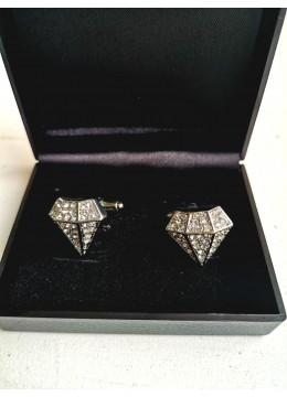 Луксозни мъжки бутонели с кристали модел Diamond