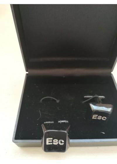 Ефектен подарък мъжки ръкавели с компютърни клавиши модел Escape