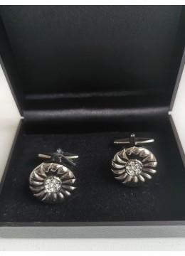 Официални копчета за ръкавели с кристали модел Round