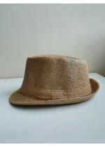 Мъжка лятна шапка тип бомбе в светло кафяво