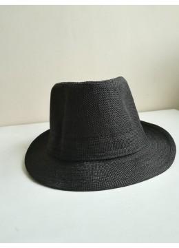 Стилна мъжка шапка панама в черно