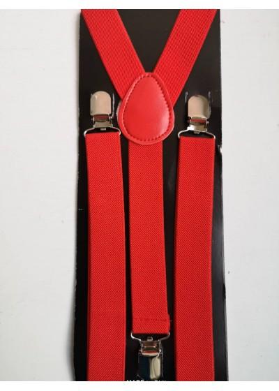 Мъжки тиранти в червено