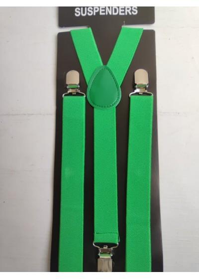 Мъжки тиранти в маслено зелено
