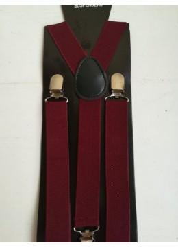 Класически мъжки тиранти в цвят Бордо