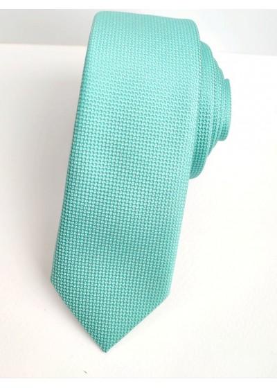 Луксозна тънка мъжка копринена вратовръзка в цвят резеда