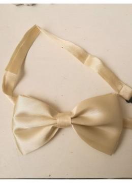 Официална папийонка за сватба или бизнес цвят слонова кост