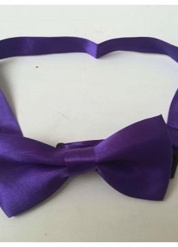 Детска папийонка за официални случаи тъмно лилаво
