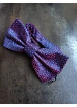 Мъжка папионка цвят лилаво и виолетово от коприна