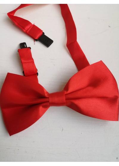 Стилна мъжка папийонка цвят червено