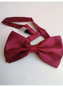 Красива мъжка папийонка цвят тъмно червено