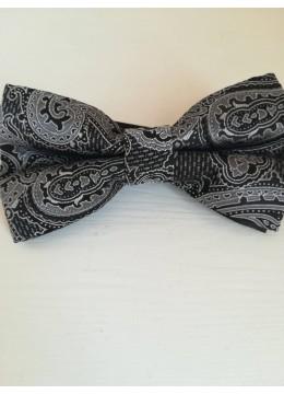 Папийонка с мотиви Paisley в черно и бяло за бизнес и официално облекло