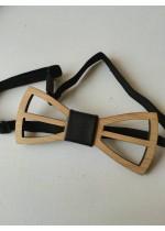 Дървена лазерно изрязана детска папийонка