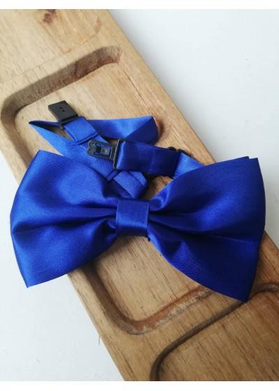 Папийонка за младоженец в кралско синьо