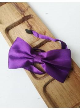 Готова папийонка тъмно лилаво на коригираща се лента