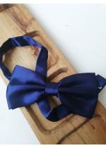 Стилна мъжка папийонка в тъмно синьо