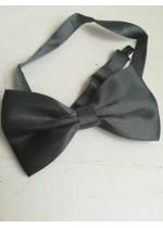 Мъжка папийонка в тъмно сиво
