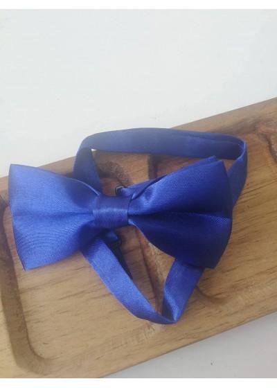 Готова папийонка кралско тъмно синьо на коригираща се лента 10 см