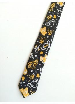 Интересна вратовръзка за Хелоуин с черепи