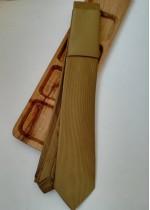 Луксозен клас мъжка вратовръзка жакард в златно by Polovito K0882