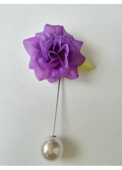 Бутониера за младоженец и кум- цвете в лилаво
