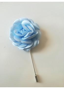 Бутониера за сватба цвят светло синьо