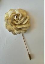 Мъжка бутониера за младоженец и кум цвят златно