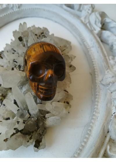 Медальон - череп от тигрово око