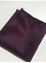 Луксозна мъжка кърпичка за джоб в тъмно лилаво
